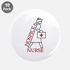"Hospice Nurse 3.5"" Button (10 pack)"