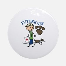 Future Vet Ornament (Round)