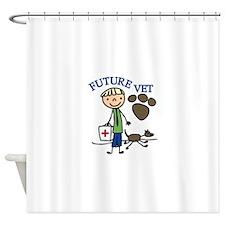 Future Vet Shower Curtain