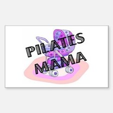 Pilates Mama Rectangle Decal