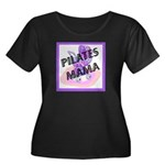 Pilates Mama Women's Plus Size Scoop Neck Dark T-S