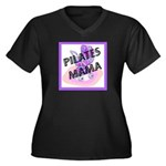 Pilates Mama Women's Plus Size V-Neck Dark T-Shirt