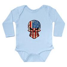 American Flag Sugar Skull Body Suit