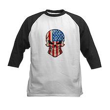American Flag Sugar Skull Baseball Jersey