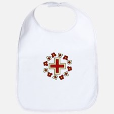 Floral Red Cross Bib
