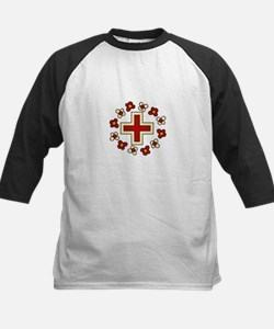 Floral Red Cross Baseball Jersey
