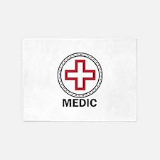 Medic Red Cross 5'x7'Area Rug