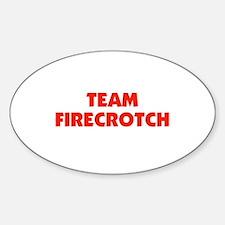 Team Fire Crotch - Lohan Oval Decal
