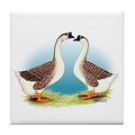 Goose and Gander Tile Coaster
