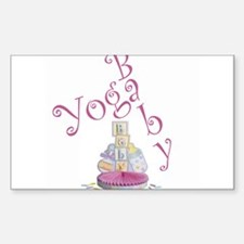 Yoga Baby #5 Rectangle Decal