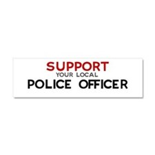 Cute Police office Car Magnet 10 x 3