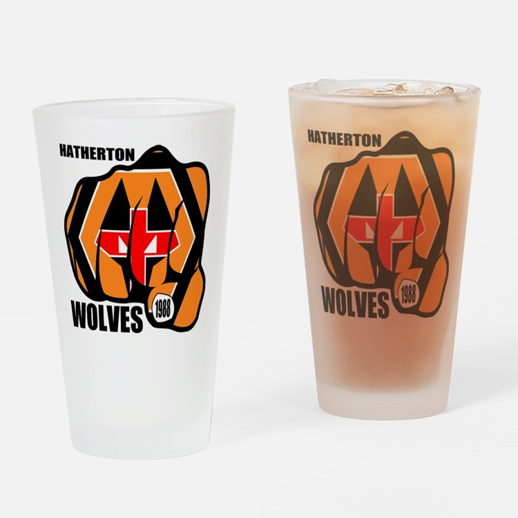 Hatherton Arms Wolves England Fist Drinking Glass