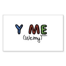 Y Me (Weimy) Rectangle Decal