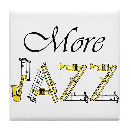Jazz man sax saxophone Tile Coaster