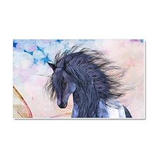 Blue Unicorn 3 Car Magnet 20 x 12