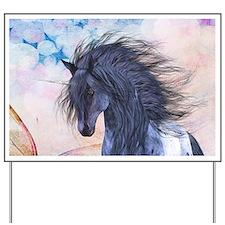 Blue Unicorn 3 Yard Sign