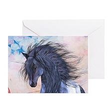 Blue Unicorn 3 Greeting Cards
