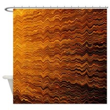 Colorful Abstract light wave lines Shower Curtain
