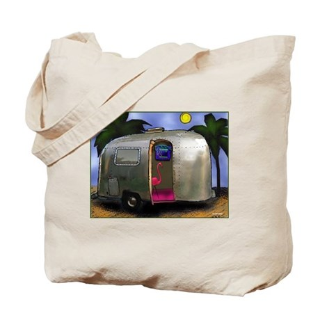 AIRSTREAM TYPE FLAMINGO Tote Bag