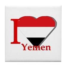 I love Yemen Tile Coaster