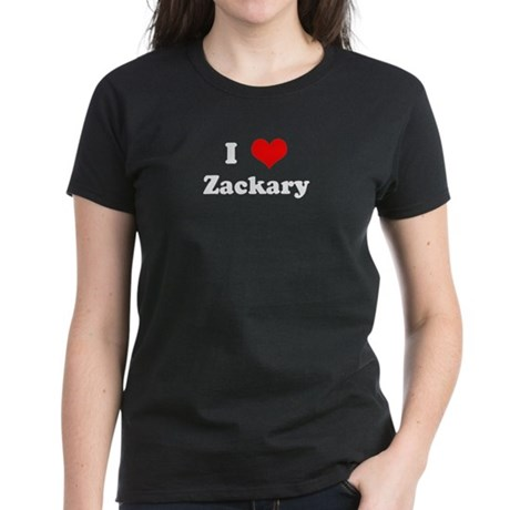 I Love Zackary Women's Dark T-Shirt