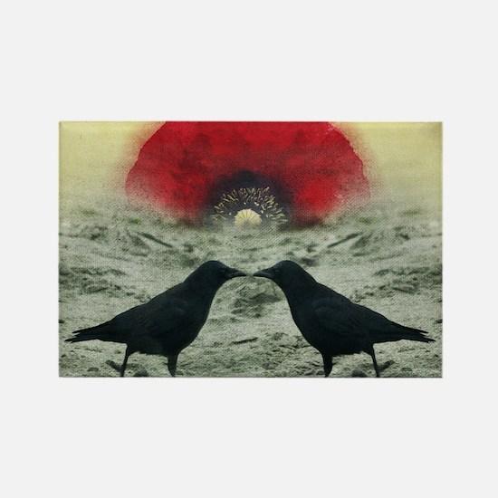 """""""Poppy Sunrise"""" Rectangle Magnet"""