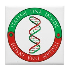 Italian DNA Tile Coaster