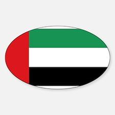Flag United Arab Emirates Oval Decal