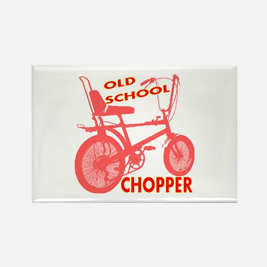 Old School Chopper Rectangle Magnet