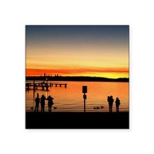 """Sunset Silhouettes Square Sticker 3"""" x 3"""""""