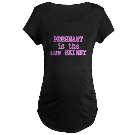 The New Skinny Maternity Dark T-Shirt