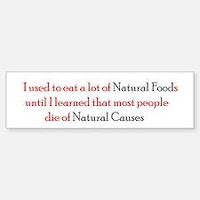Natural Foods Bumper Bumper Sticker