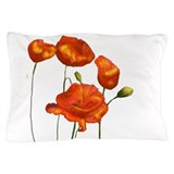 Red poppy Pillow Cases