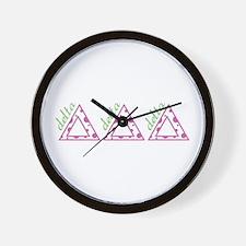 Delta Delta Delta Wall Clock