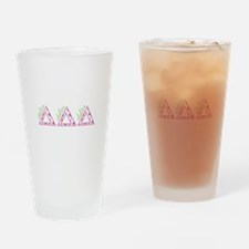 Delta Delta Delta Drinking Glass