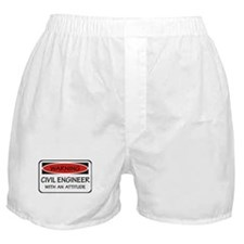 Attitude Civil Engineer Boxer Shorts