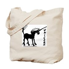 Bold Black Gestural Unicorn Tote Bag