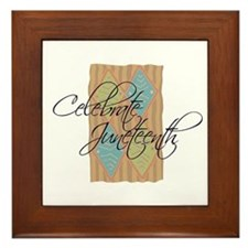 Celebrate Juneteenth - Black Framed Tile