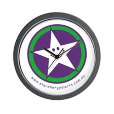 Star Allergy Alerts - logo Wall Clock