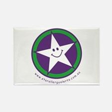 Star Allergy Alerts - logo Rectangle Magnet (100 p