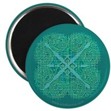Celtic Green Two-Coil Spiral Magnet