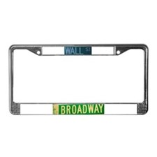 New York City Streets License Plate Frame