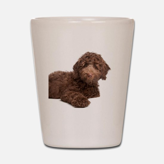 Labradoodle Puppy Shot Glass