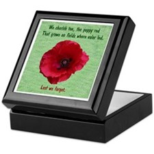 The Poppy Red Keepsake Box