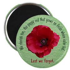 "The Poppy Red 2.25"" Magnet (10 pack)"