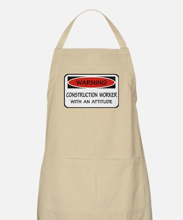 Attitude Construction Worker BBQ Apron