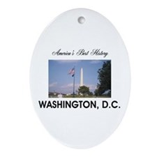 Washington Americasbesthistory.com Ornament (Oval)