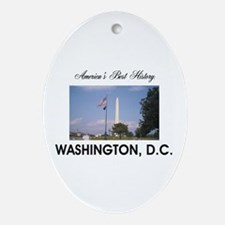 Washington Americasbesthistory.com Oval Ornament