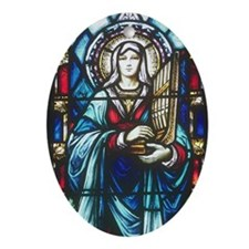 St Cecilia Oval Ornament