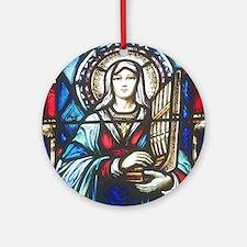 St Cecilia Ornament (Round)